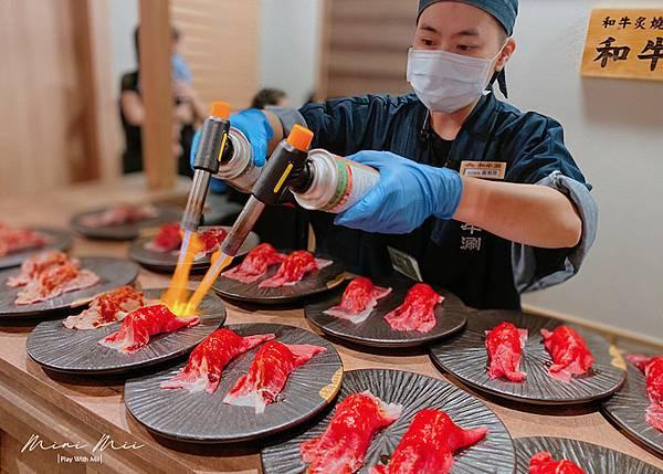 02.和牛涮可品嘗到炙燒和牛壽司。圖:痞客邦部落格「mini Mii米米要去哪」提供。.jpg