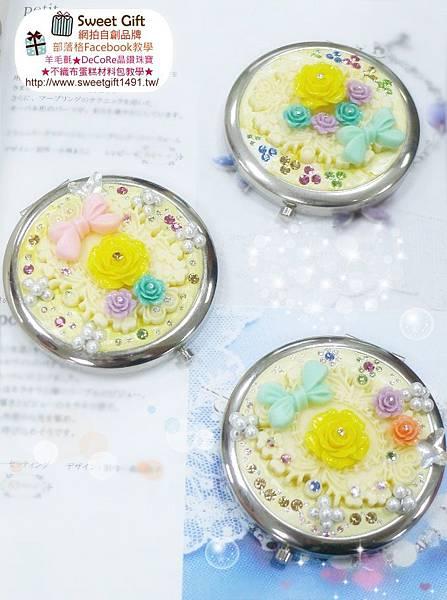 奢華薔薇花梳妝折疊鏡2