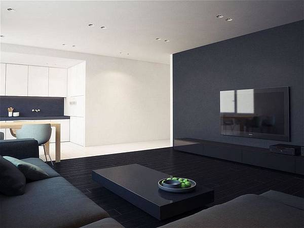interesting-black-color-living-room-design-as-well-tv-wall-mount-and-gloss-table-feat-blacl-fabric-sofa-along-with-lighting-ceiling.jpg