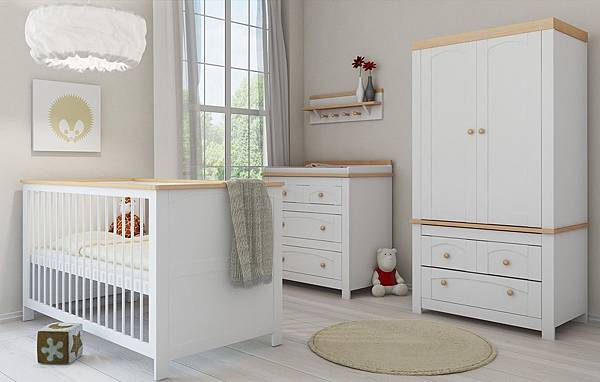 More-Views-elegant-neutral-white-bedding-steel-wood-cupboard-and-desk-dolls-round-soft-brown-carpet-baby-nursery-furniture-packages.jpg
