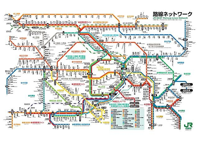 JR東日本路線圖
