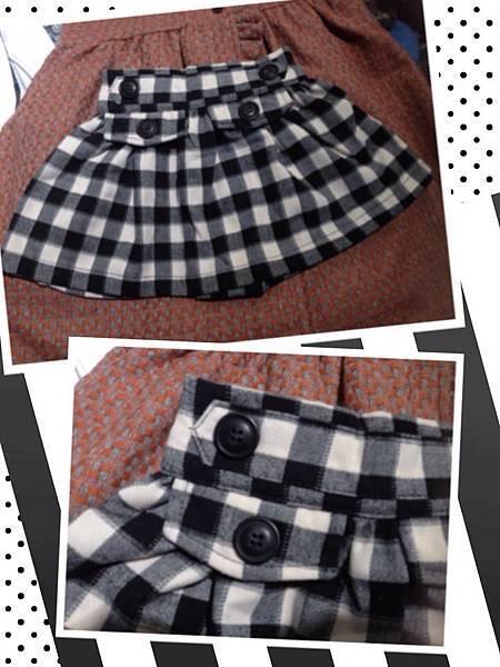 黑白方格伸縮裙(NTD530)