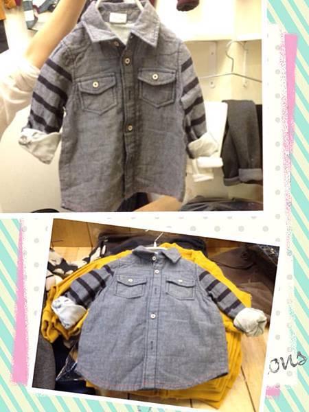 軟牛仔條紋襯衫(NTD550)