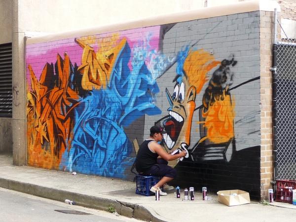 牆壁作畫者