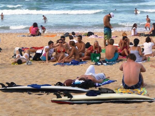 Manly beach-8-surfing boys.JPG