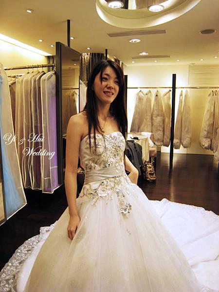 漂亮白紗正面