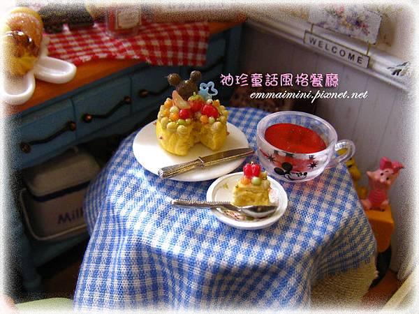 袖珍餐廳(田園蜜語改造)6-餐桌上的下午茶~大碗甜湯與蛋糕