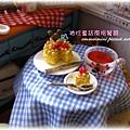 袖珍餐廳(田園蜜語改造)8-餐桌上的下午茶~大碗甜湯與蛋糕