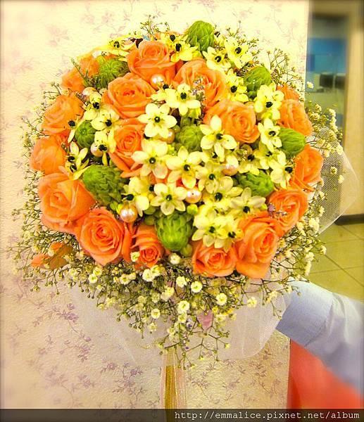 母親的手作捧花