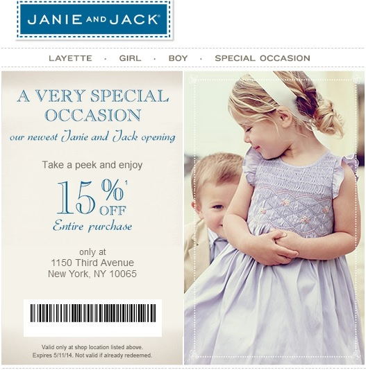 image relating to Janie and Jack Printable Coupons referred to as Janie And Jack Coupon Printable Discount coupons DB 2016