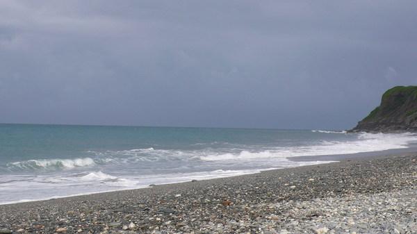 颱風前的七星潭
