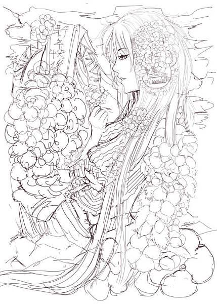 一月一號繡球花正面