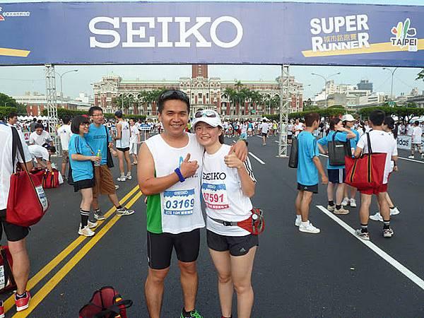 順利跑完10K!