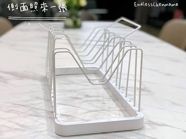 tower伸縮式鍋蓋收納架(白) 山崎收納 Yamazaki 廚房收納 鍋蓋 平底鍋 自由調整間距