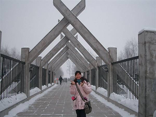 金上京博物館的走道
