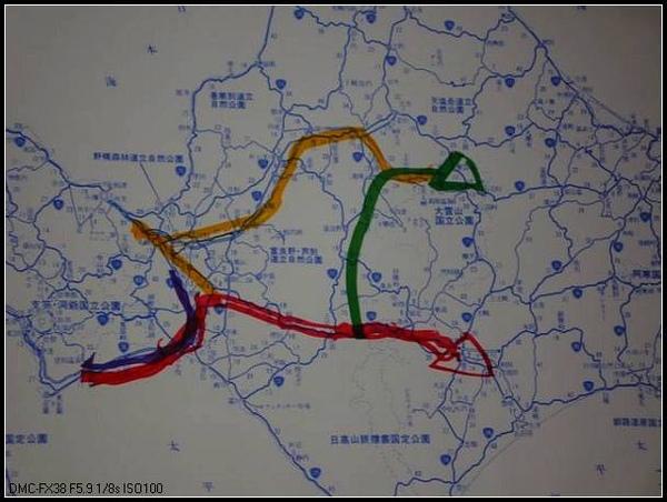 北海道五日遊的路線圖.JPG