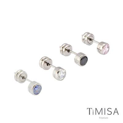 TiMISA 極簡晶鑽 純鈦耳針 01