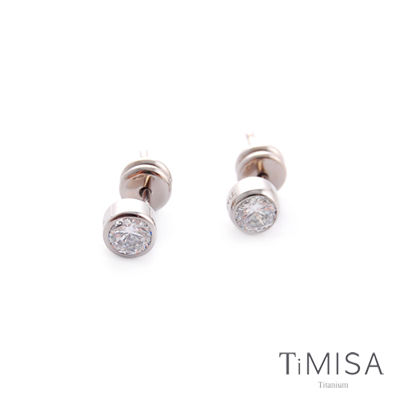 TiMISA 極簡晶鑽 純鈦耳針 05