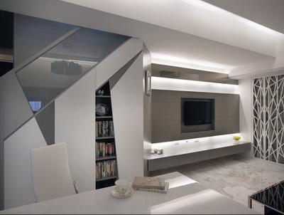 樓梯及電視牆