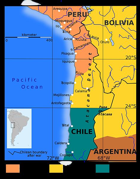 003-南太平洋戰爭前三國地圖Map_of_the_War_of_the_Pacific