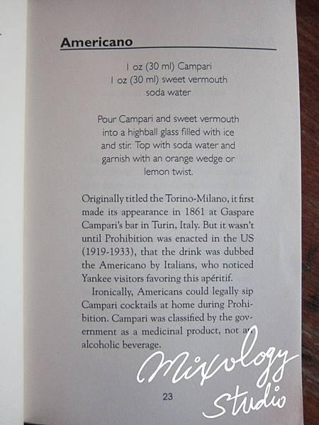 P.23-002 Americano recipe & history
