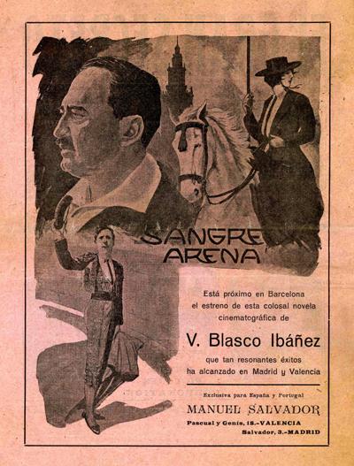 P.33-008-1917 baja El Mundo Cinem, nº 5, 1917, dorso, Sangre y arena359, ret