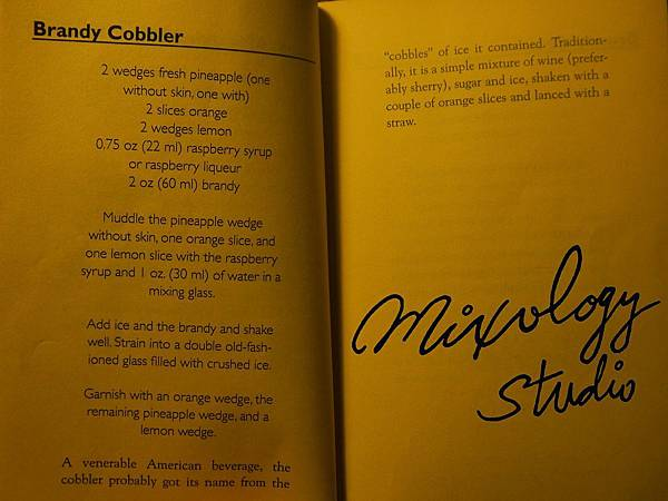 P.38-003 Brandy Cobbler recipe & history