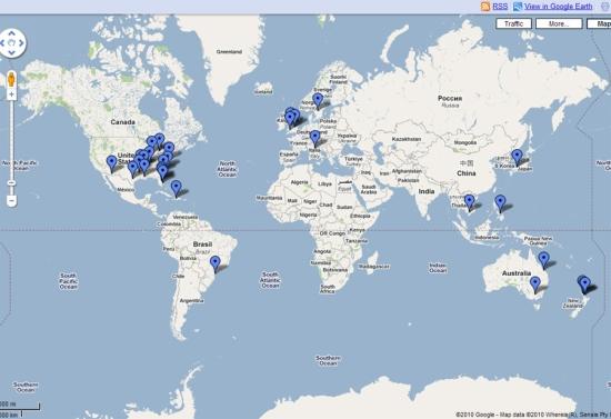 圖中藍色標籤即為近日多起動物死亡地點(圖擷取自谷歌地圖).jpg