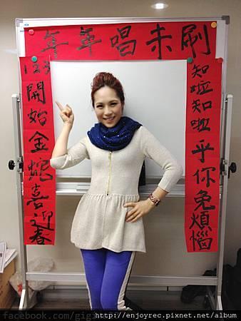 吳申梅手寫春聯2013蛇年義賣喜迎春