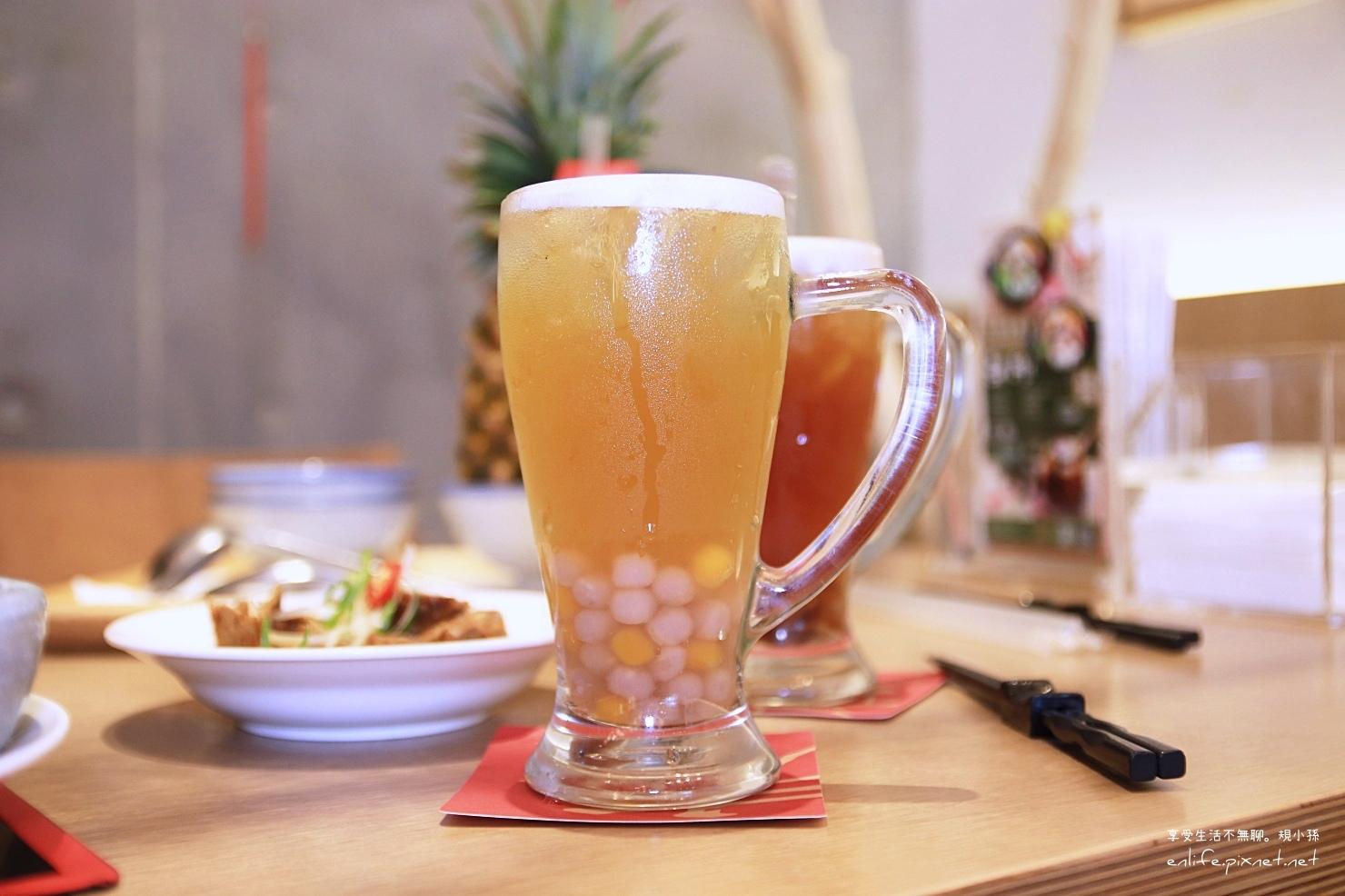 台中美食有春茶館-小芋圓綠茶