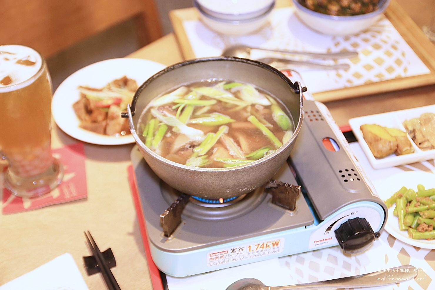 台中美食有春茶館-魷魚螺肉蒜鍋(升級肉燥飯)