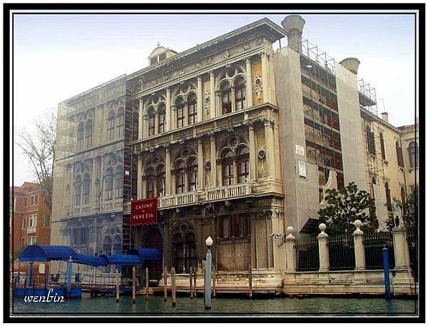 威尼斯的住宅碼頭
