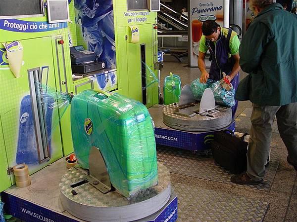 羅馬達文西機場行李包裝機
