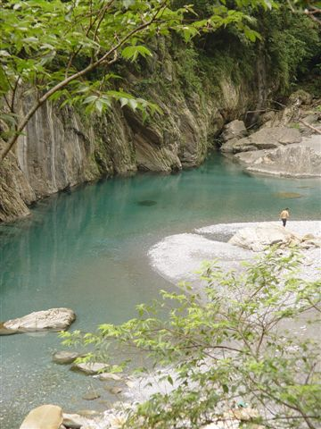 清澈的砂卡礑溪