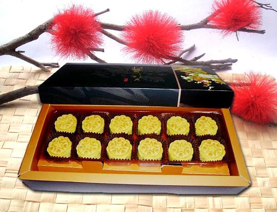 日式奶皇桃山月餅