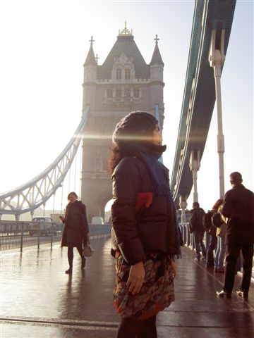 還可以從塔橋內往外欣賞倫敦的樣子