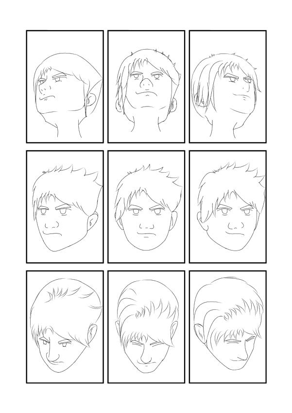 臉部角度練習