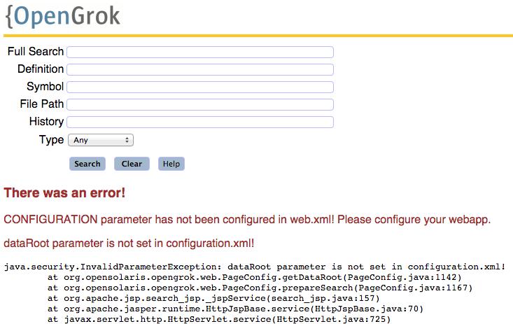 opengrok_config_error