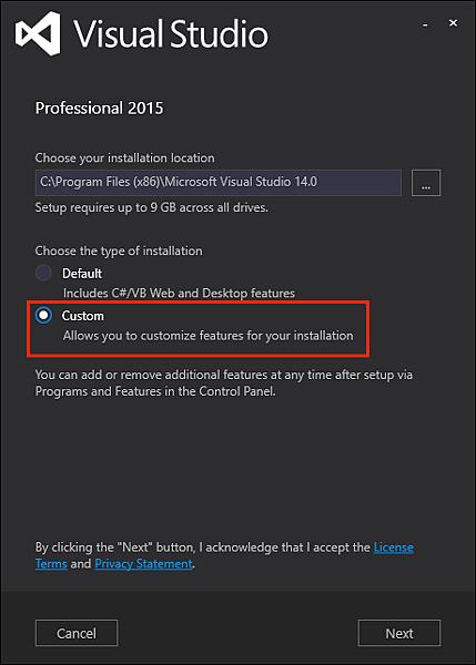 [VS2015] 安裝 Visual Studio 2015 Update 3 + Windows Driver Kit 10