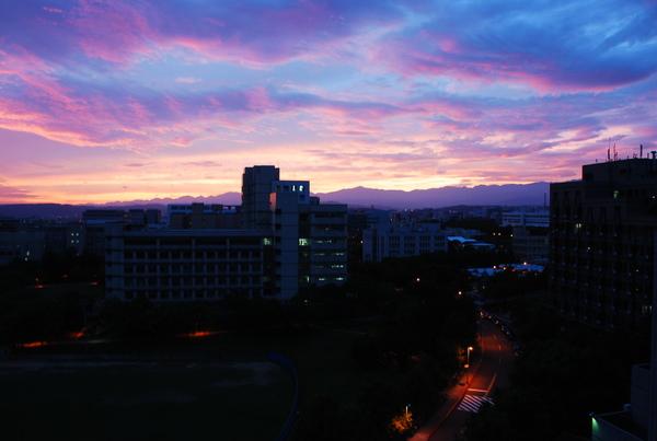 颱風過後的火燒雲大景(7)