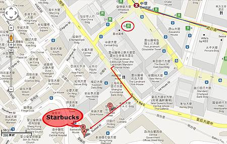 Starbucks map