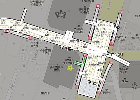 SMTOWN Pop-up Store Map