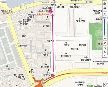 <EXO's Showtime> 第7集取景地:北村韓屋村 地圖