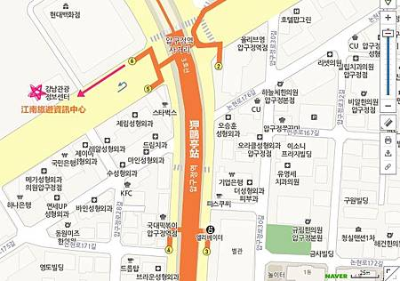 Gangnam Tourist Information Center Map