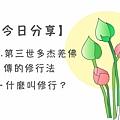 0913今日分享-H.H.第三世多杰羌佛傳的修行法-什麼叫修行