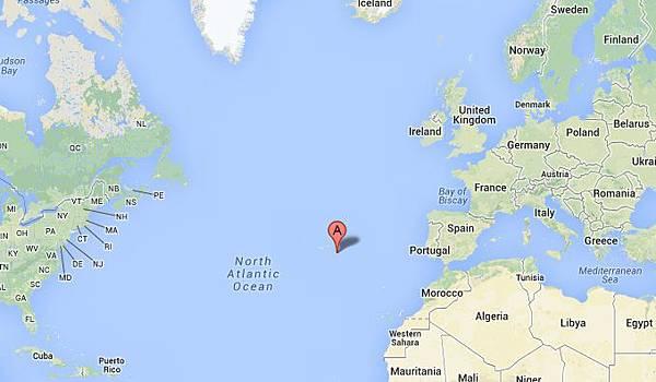 Azores 位置