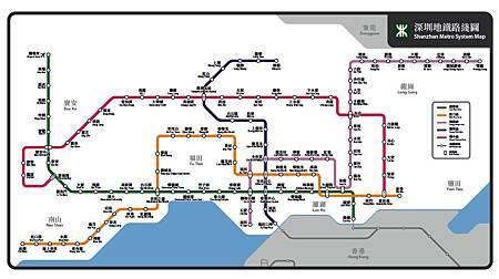 深圳地鐵路線圖