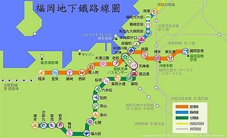 福岡地鐵Map