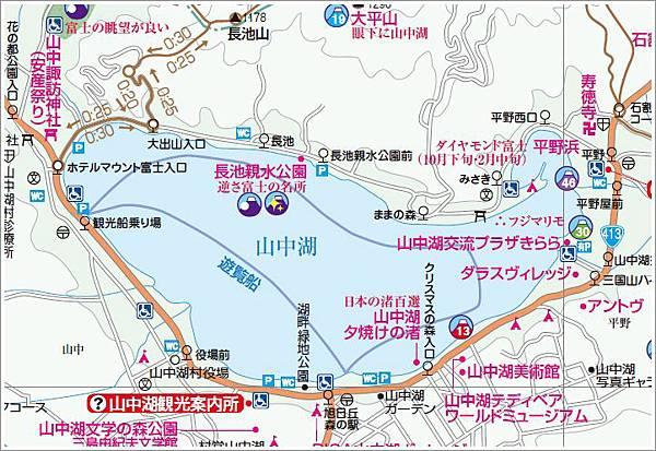 山中湖周邊Map