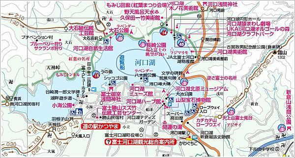河口湖周邊Map